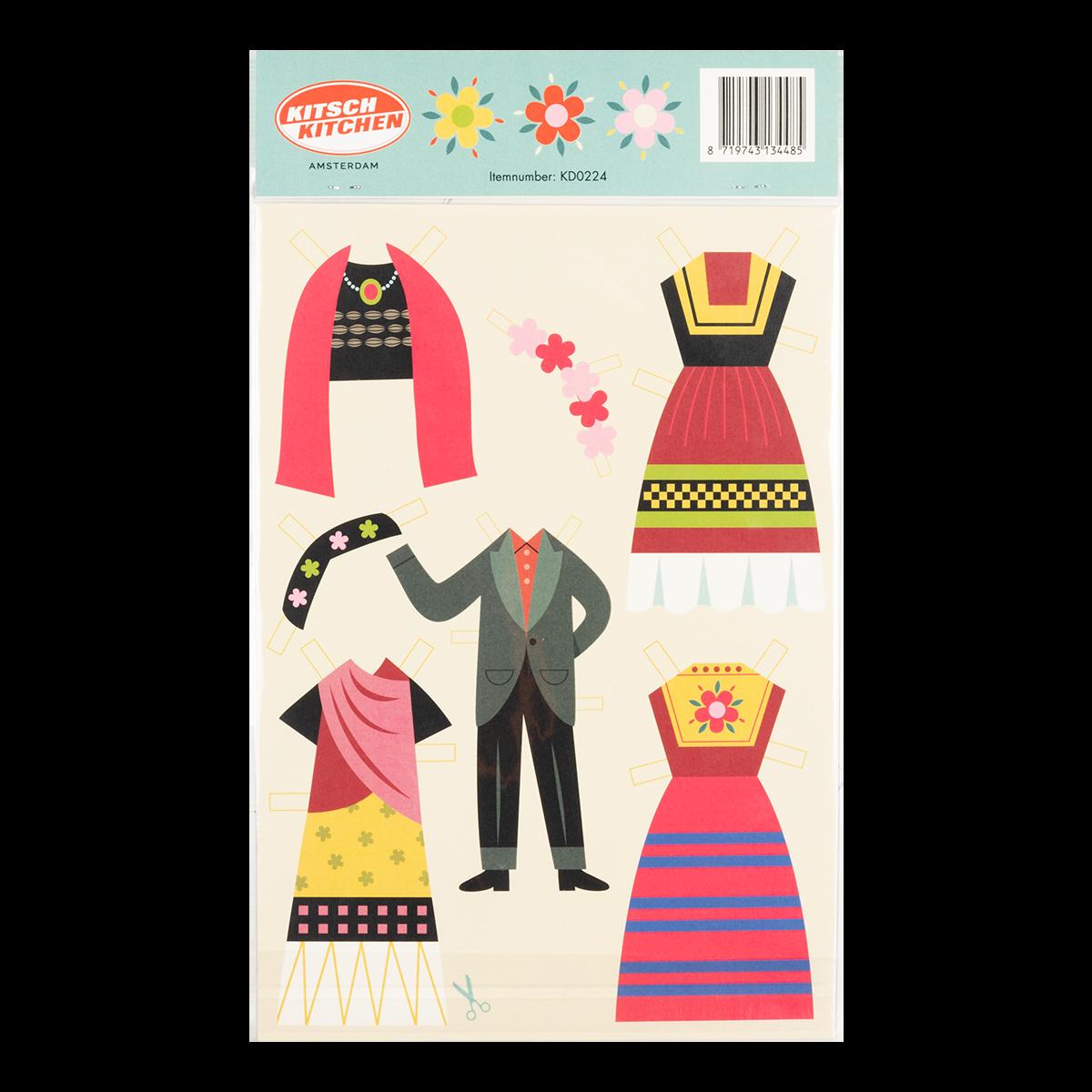 Kitsch Kitchen - Dress up Frida Paper Doll