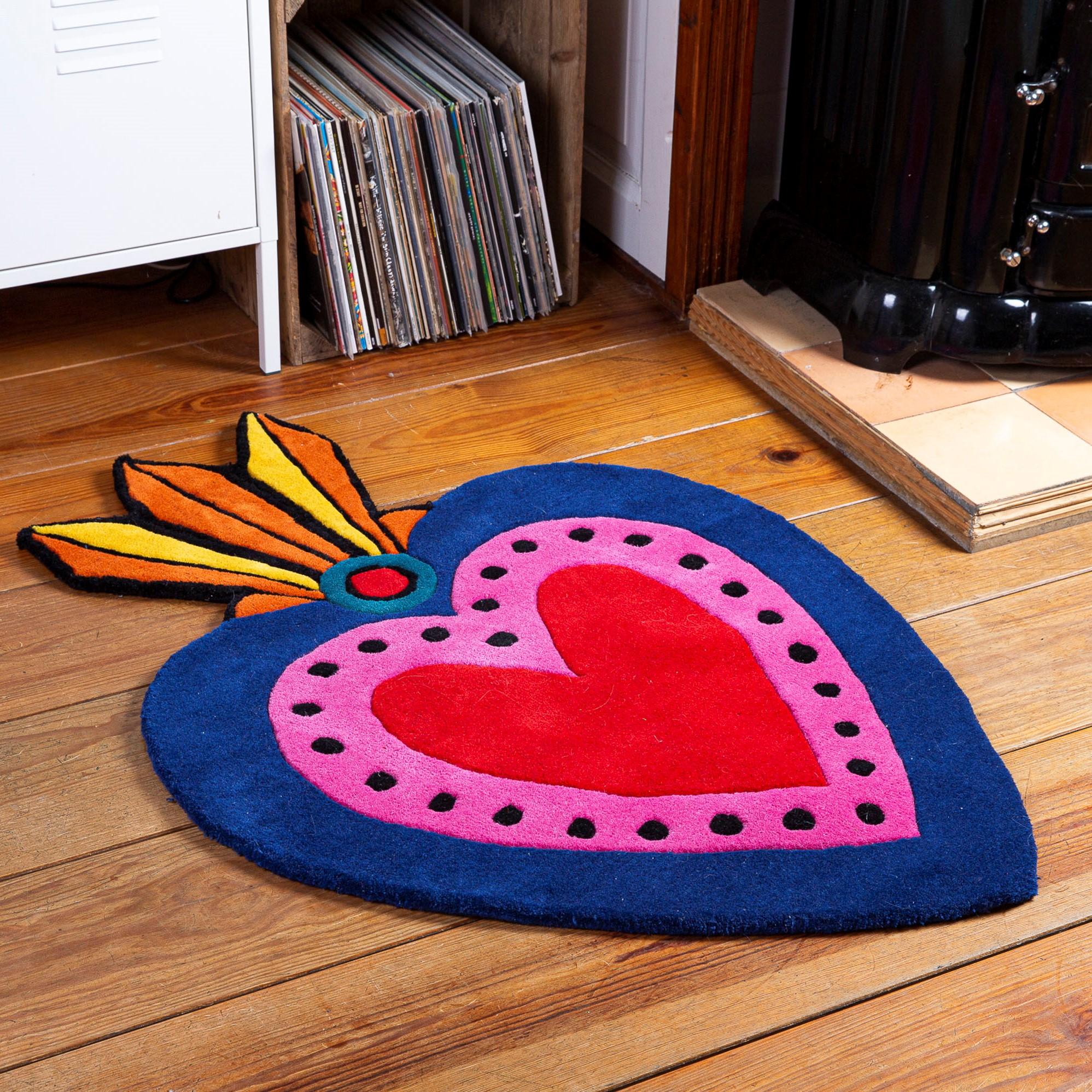 Kitsch Kitchen - Sfeer vloerkleed Milagro Heart L