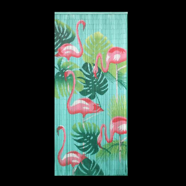 Kitsch Kitchen - Deurgordijn Bamboe Flamingo
