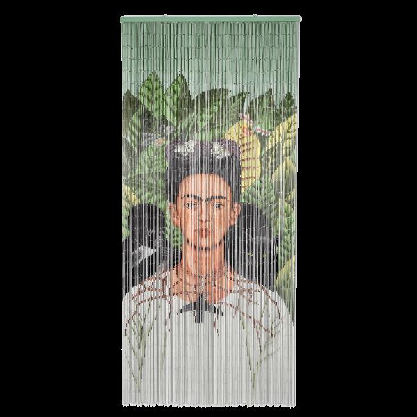 Kitsch Kitchen - Deurgordijn Frida Kahlo Monkey bamboe