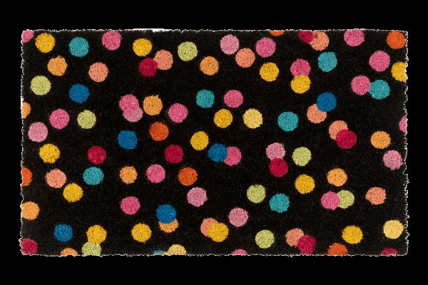 Kitsch Kitchen - Deurmat Confetti zwart