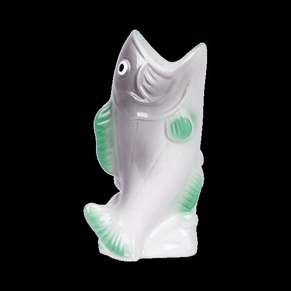 Kitsch Kitchen - Kaarsenhouder Fish grijs