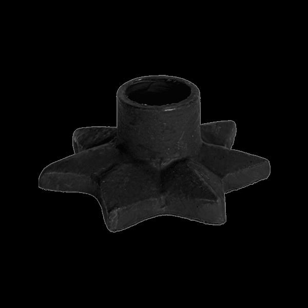 Kitsch Kitchen - Kaarsenhouder Star zwart