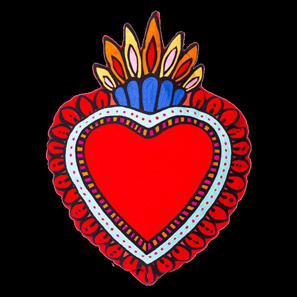 Kitsch Kitchen - Kussen Milagro Heart rood