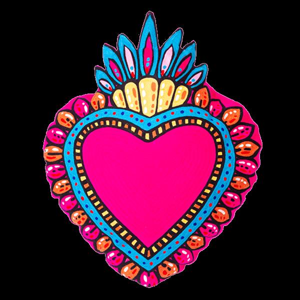 Kitsch Kitchen - Kussen Milagro Heart roze