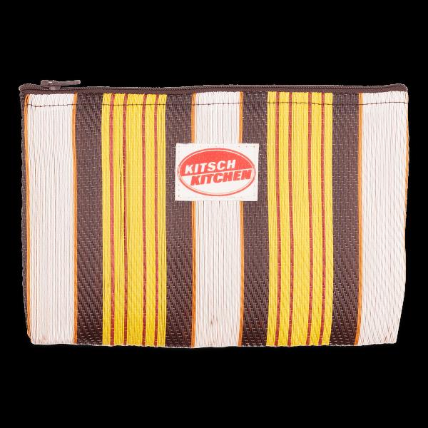Kitsch Kitchen - Make-up bag strepen geel