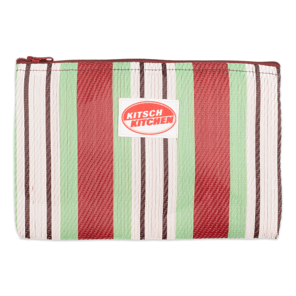 Kitsch Kitchen - Make-up bag strepen groen