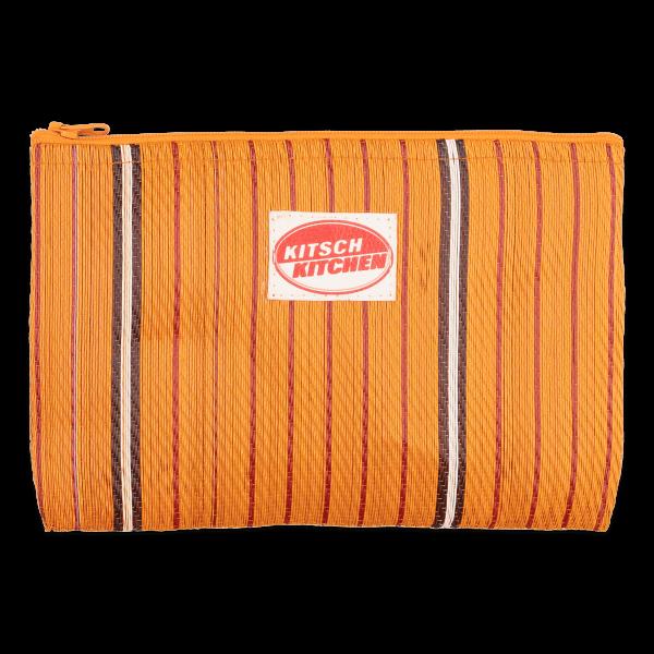 Kitsch Kitchen - Make-up bag strepen oranje