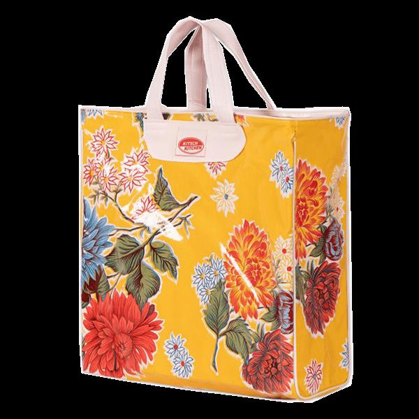 Kitsch Kitchen - Market bag Crisantemos geel