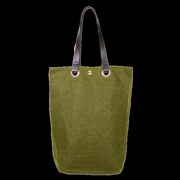 Kitsch Kitchen - Shopper Leder handvat groen