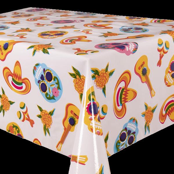 Kitsch Kitchen - Tafelzeil Calaveras wit