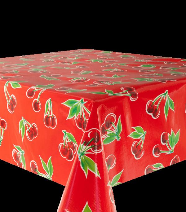 Kitsch Kitchen - Tafelzeil Cerezas rood