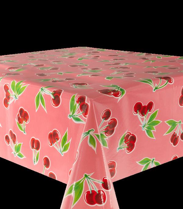 Kitsch Kitchen - Tafelzeil Cerezas roze