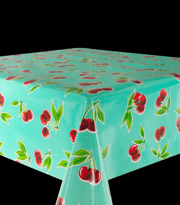 Kitsch Kitchen - Tafelzeil Cerezas turquois