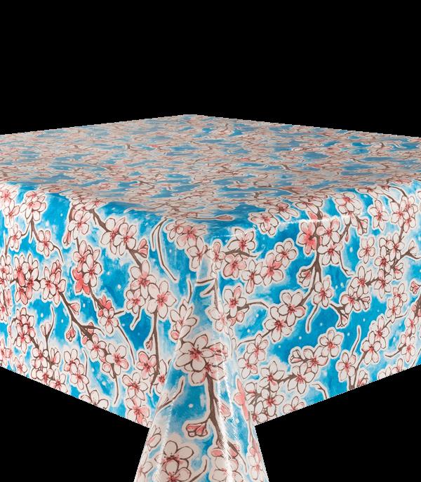 Kitsch Kitchen - Tafelzeil Cherry Blossom blauw