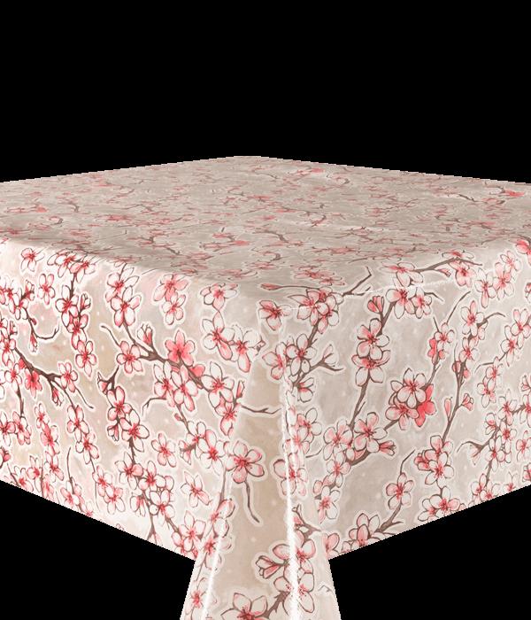 Kitsch Kitchen - Tafelzeil Cherry Blossom grijs