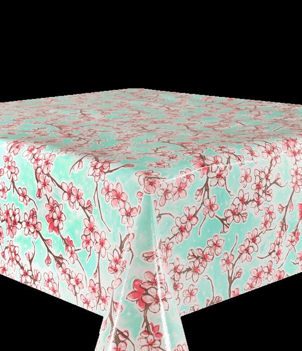 Kitsch Kitchen - Tafelzeil Cherry Blossom mint