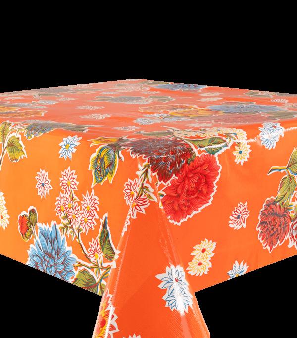 Kitsch Kitchen - Tafelzeil Crisantemos oranje