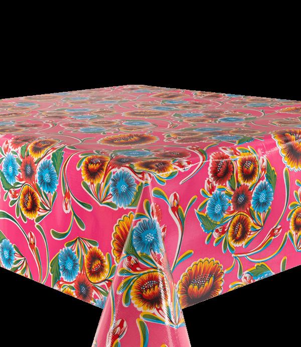 Kitsch Kitchen - Tafelzeil Floralpola fuchsia