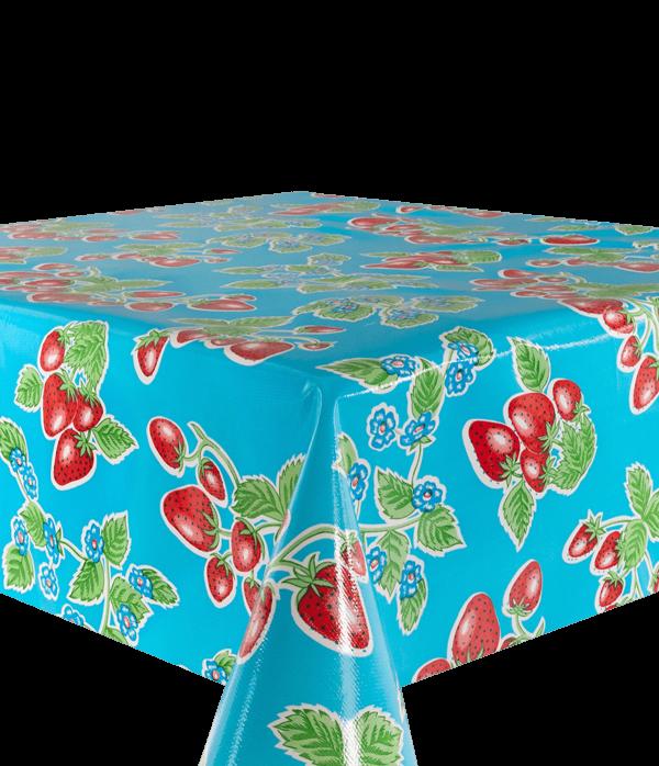 Kitsch Kitchen - Tafelzeil Fresas blauw