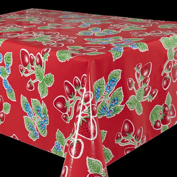 Kitsch Kitchen - Tafelzeil Fresas rood