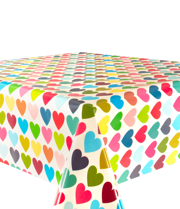 Kitsch Kitchen - Tafelzeil Hearts