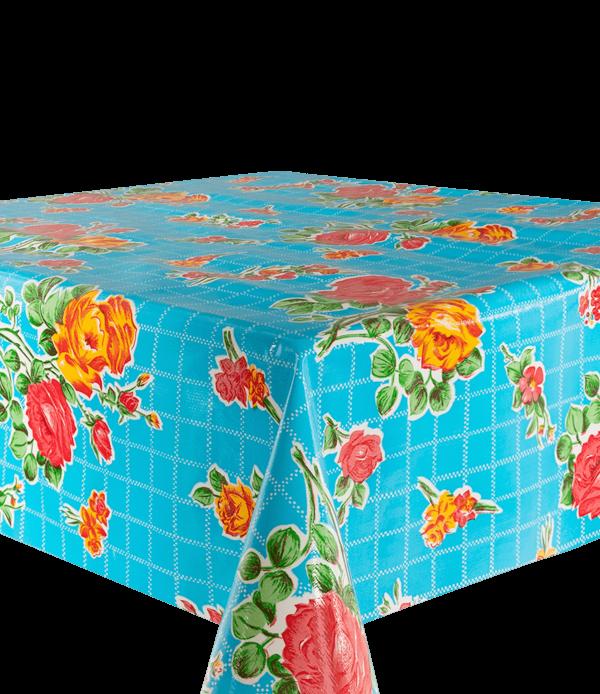 Kitsch Kitchen - Tafelzeil Rosedal blauw