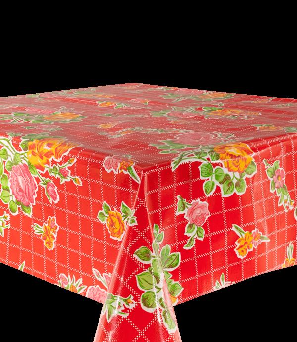 Kitsch Kitchen - Tafelzeil Rosedal rood