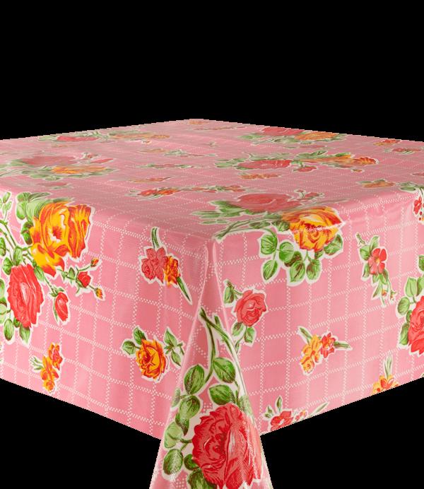 Kitsch Kitchen - Tafelzeil Rosedal roze