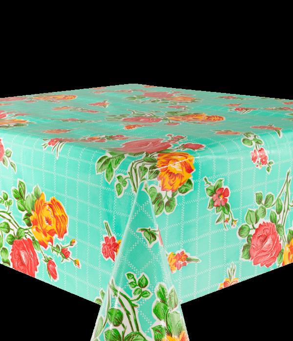 Kitsch Kitchen - Tafelzeil Rosedal turquoise