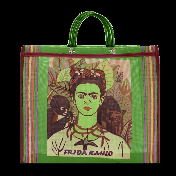 Kitsch Kitchen - Tas Maya Frida Kahlo Groen