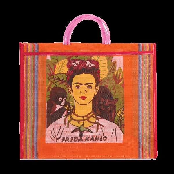 Kitsch Kitchen - Tas Maya Frida Kahlo oranje