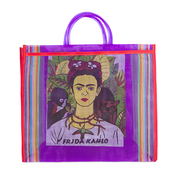 Kitsch Kitchen - Tas Maya Frida Kahlo paars