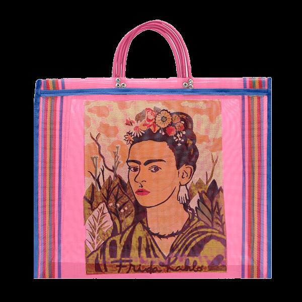 Kitsch Kitchen - Tas Maya Frida Kahlo roze