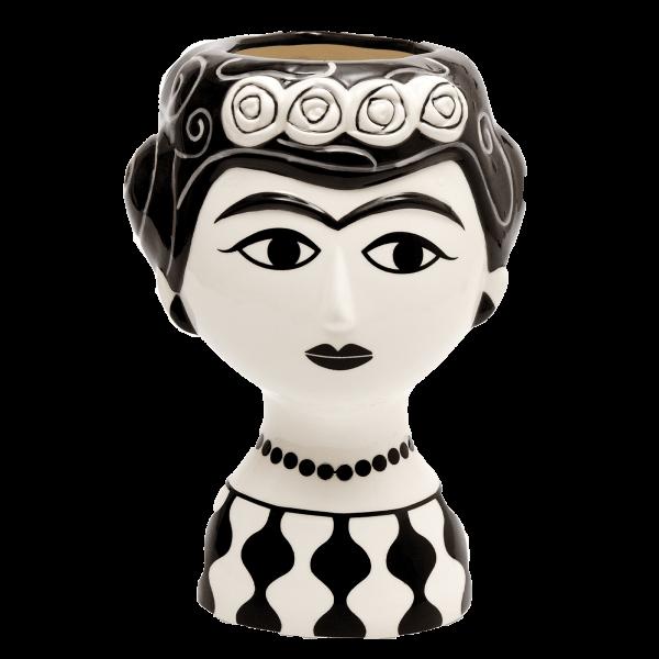 Kitsch Kitchen - Vaas Marisol zwart-wit