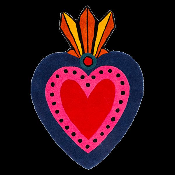 Kitsch Kitchen - Vloerkleed Milagro Heart L
